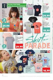 Catalogul KAUFLAND  10 - 16 iulie 2019 tricouri de dama