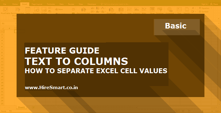 Text To Columns - How To Split Or Divide Cell Contents In Excel