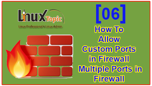 How To Allow Custom Ports in Firewall | Allow Multiple Ports in Firewall