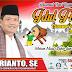 """H. Erianto, Ketua Fraksi Partai Gerindra Pasbar Mengucapkan, """"Selamat Idul Fitri 1442 H, Maaf Lahir dan Batin""""."""