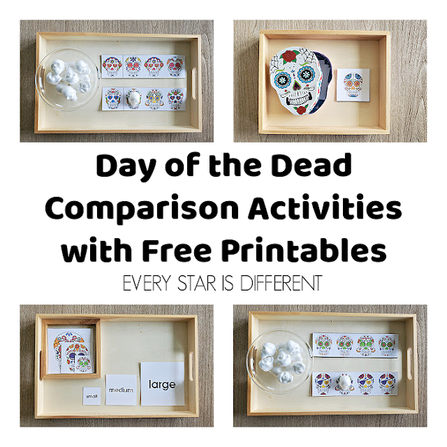 Day of the Dead Comparison Activities with Free Printable