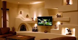 ديكورات شاشات بلازما على الحائط