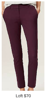 Sydney Fashion Hunter - She Wears The Pants - Loft Plum Work Pants