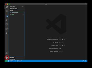 Visual Studio Codeの設定アイコン