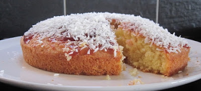 Ioanna's Notebook - Coconut syrup cake