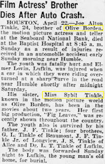 Olive Borden Sybil Tinkle Article