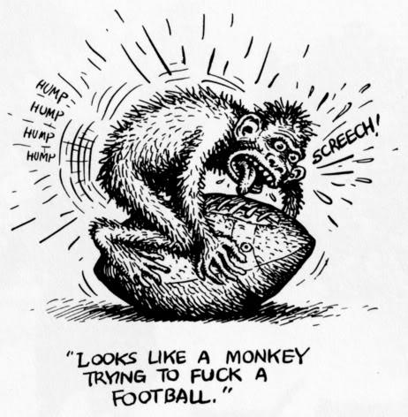 monkey fucking a football