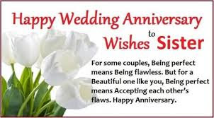Wedding Anniversary Wishes For Sister With Cute Images