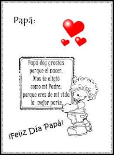 Poemas fáciles y cortos para niños de kinder. Dibujos, mensajes y frases por el Día del Padre ~ Dibujos
