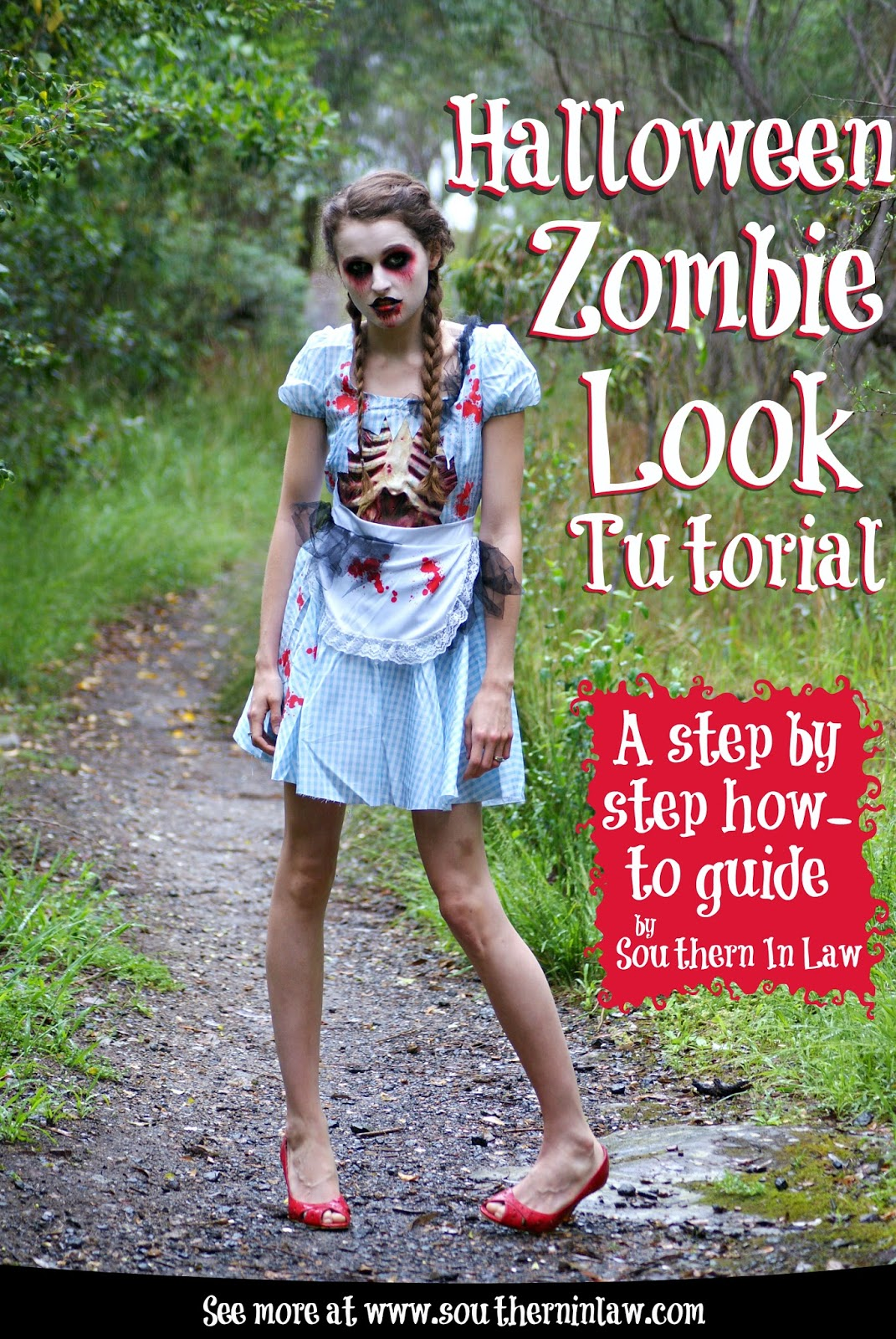 Step By Step Diagram Template: Southern In Law: Step By Step Halloween Zombie Look Tutorial