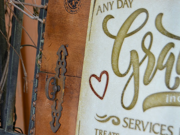 DIY Rustic Wood Sign With Salvaged Drawers