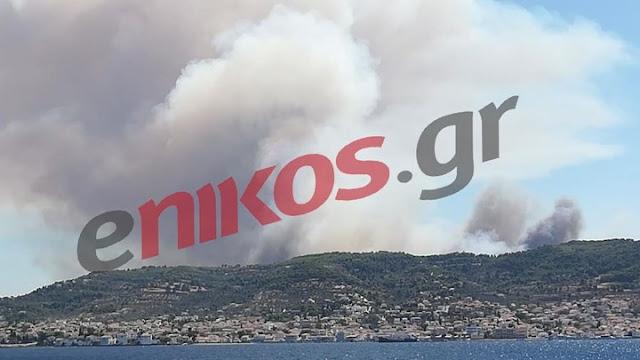 Πύρινη κόλαση στις Σπέτσες - Πυρκαγιές σε Ανάβυσσο Αμαλιάδα και Μεσσηνία (βίντεο)