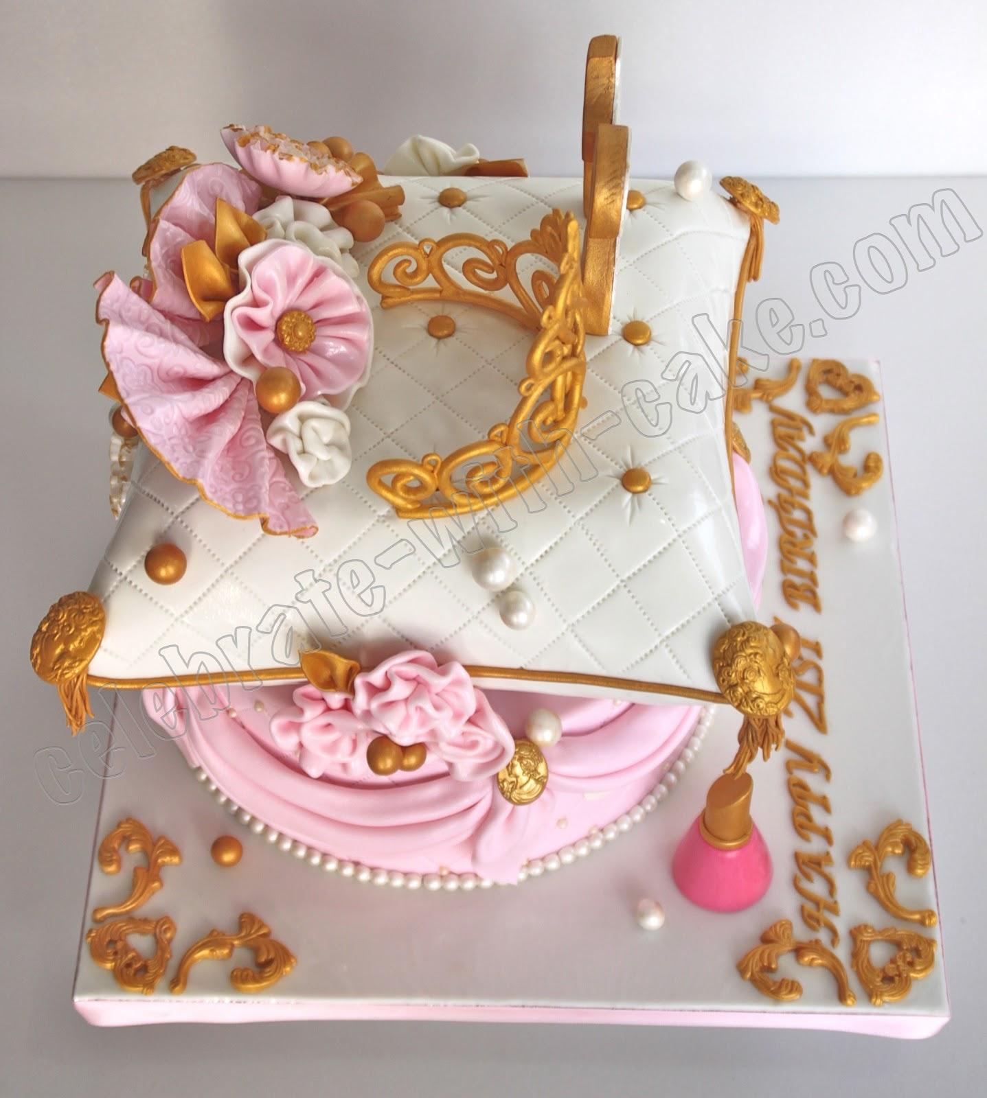 Princess Tiara And Pillow Cake