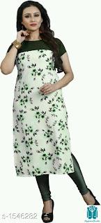 Mahika Fashionable Crepe Printed Women's Kurtis