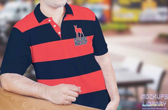 men polo t shirt mockup free