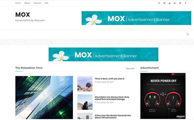 Chia sẻ giao diện Mox blogger template