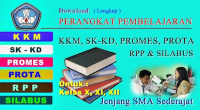 Download Free KKM, SK-KD, PROMES, PROTA, RPP, Dan SILABUS SMA Kelas 10, 11, 12 Lengkap Semua Mata Pelajaran