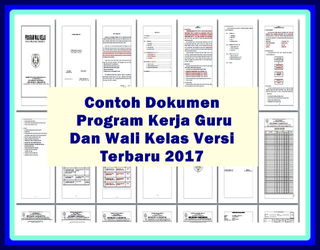 Download Contoh Program Kerja Guru Dan Wali Kelas 2017