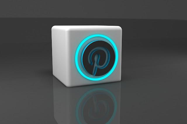 Pinterest 3D logo in blue
