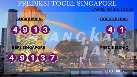 Prediksi Togel Angka Jitu Singapura Kamis 09 Juli 2020
