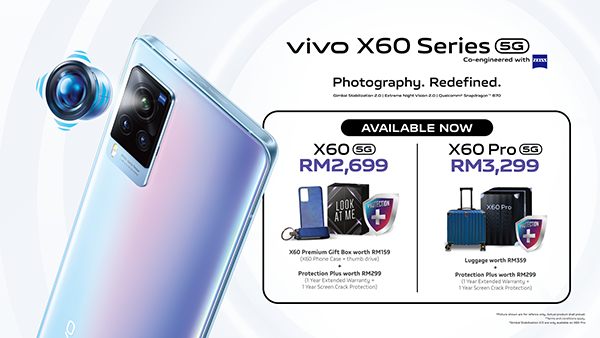 Vivo  X60 Series With ZEISS Flagship Professional Photography Now Limited time Promotion!
