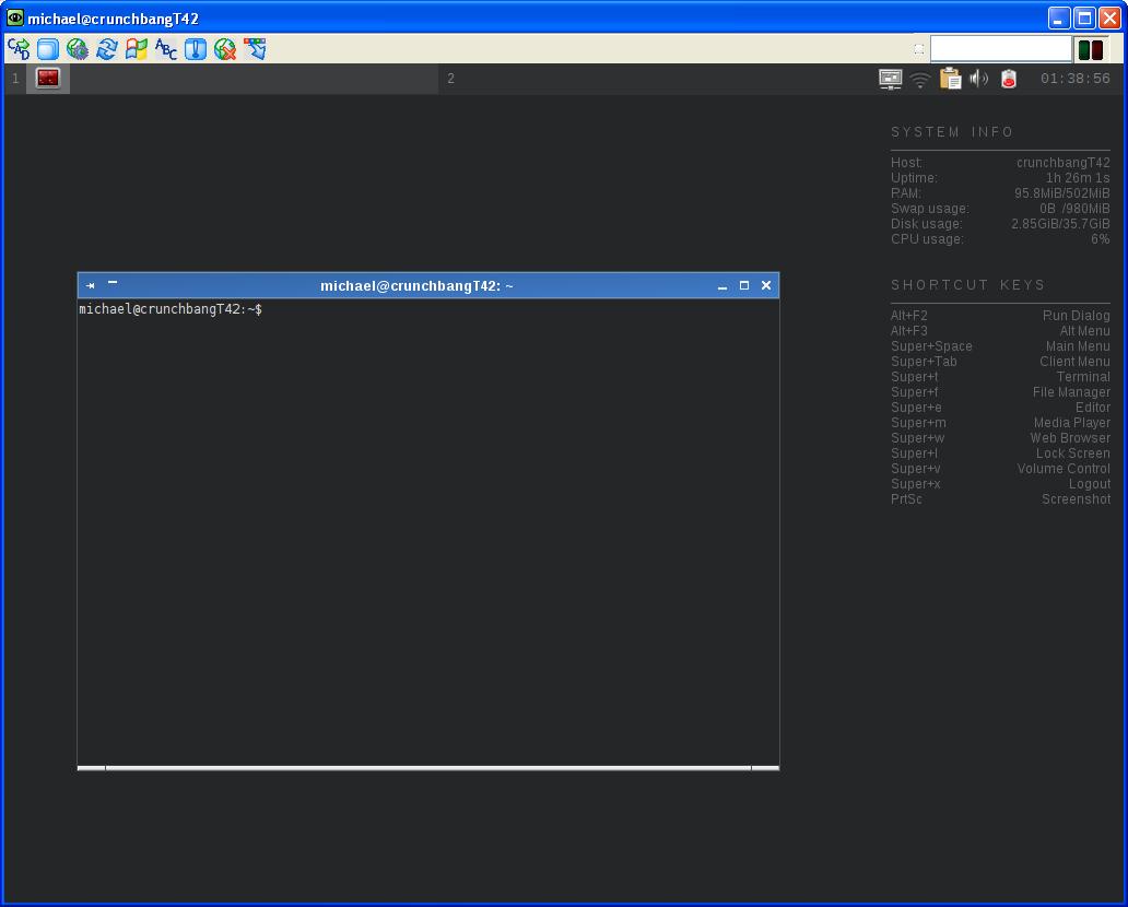 Michael's TechBlog: Crunchbang Linux - remote desktop
