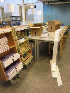 läromedel streckkodsmärks för att läggas in i bibliotekskatalogen