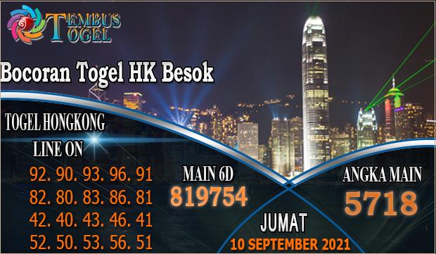 Bocoran Togel HK Besok, Jumat 10 September 2021 Tembus Togel