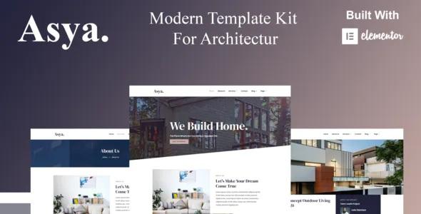 Best Modern Architecture Elementor Template Kit