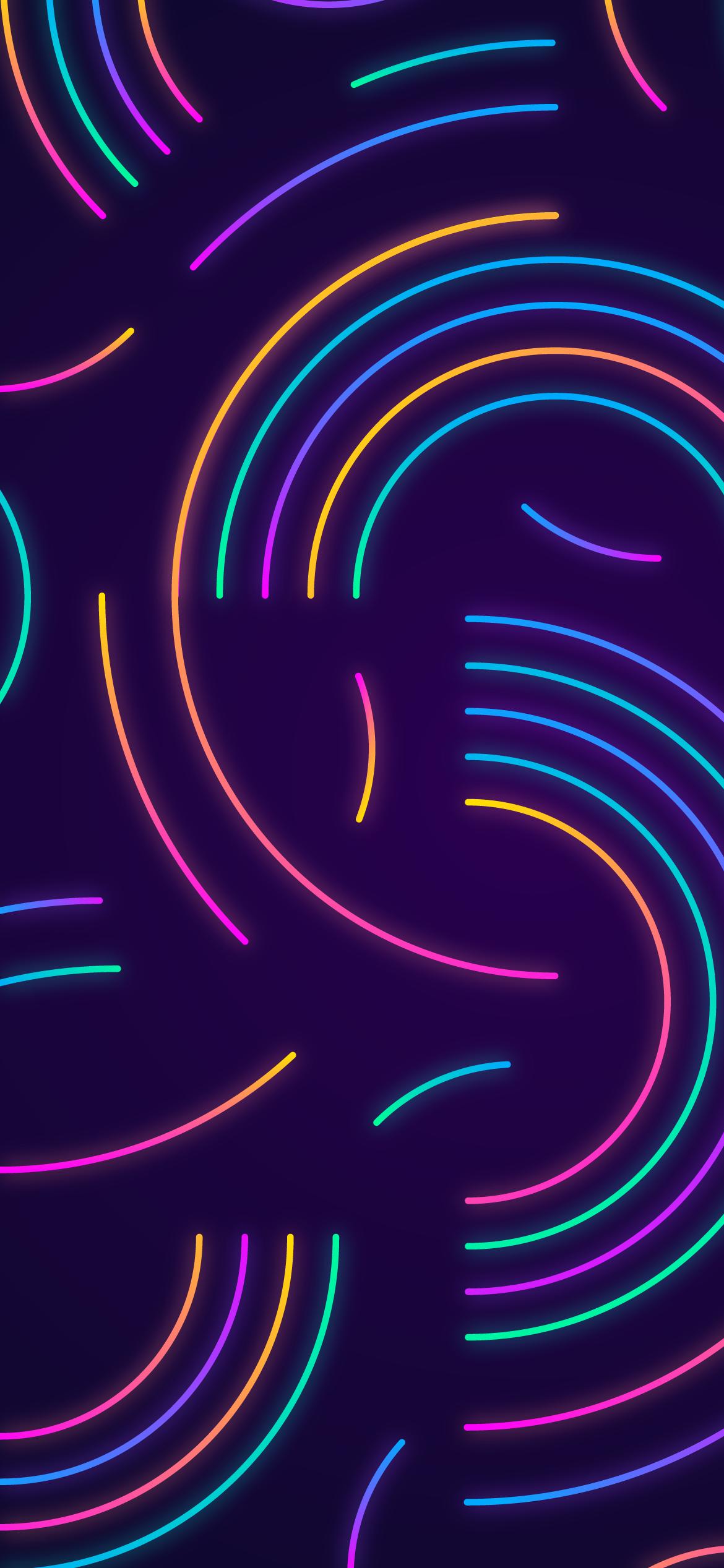 neon lines mobile wallpaper