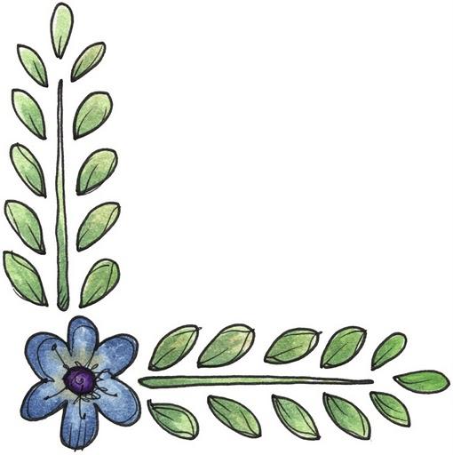 Esquina para imprimir de flores imagenes y dibujos para for Plantas decorativas hojas