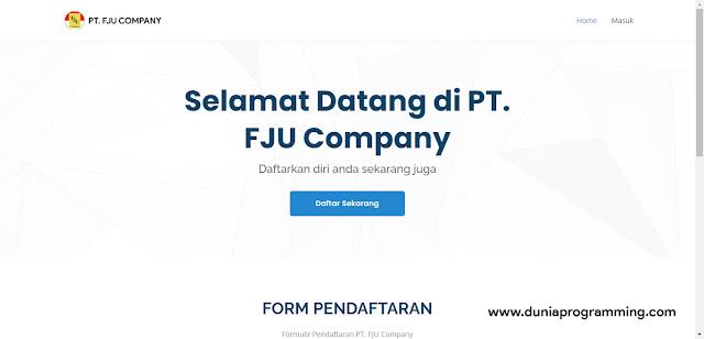 Aplikasi Recruitment Karyawan Berbasis Website Menggunakan PHP Bootstrap