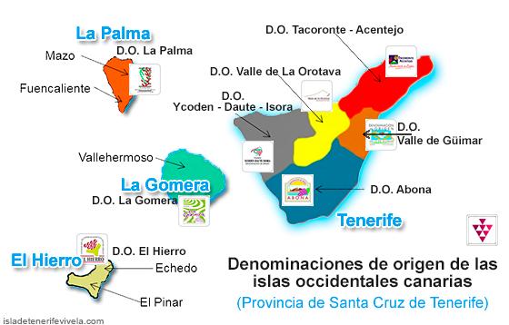 Denominaciones de origen de los vinos de Santa Cruz de Tenerife