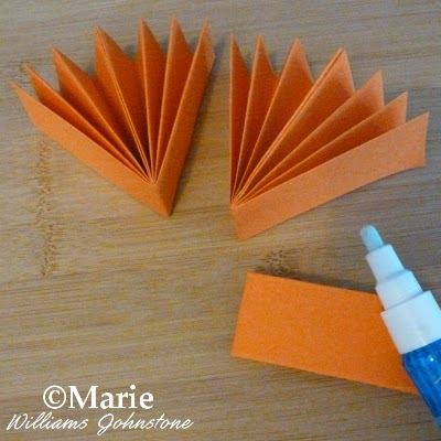 Sticking papers with a zig glue pen