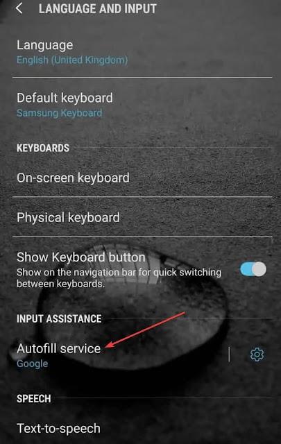خدمة الملء التلقائي - كلمة المرور - android - الملء التلقائي