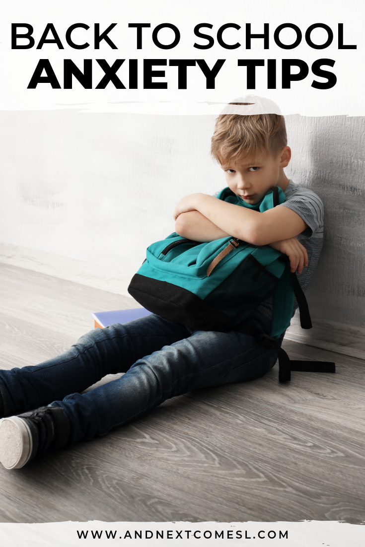 Tips for helping with back to school anxiety