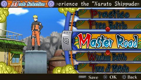 Naruto Shippuden: Ultimate Ninja Heroes 3 (USA) PSP ISO Screenshots #1