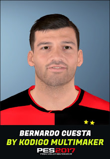 PES 2017 Faces Bernardo Cuesta by Kodigo