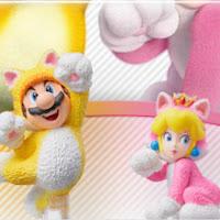 Découvre les amiibo Mario Chat et Peach chat