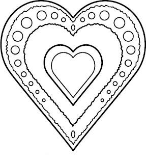 דפי צביעה לקישוט לבבות