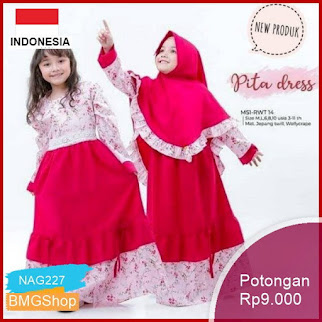 NAG227 Dress Kids Syari Baju Anak Wanita Gamis Anak Bmgshop