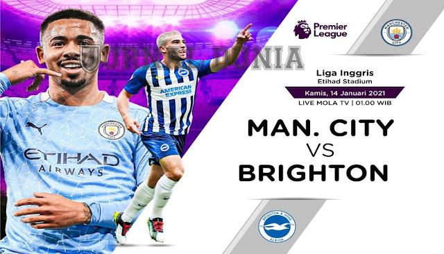 Prediksi Manchester City Vs Brighton & Hove Albion