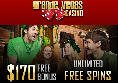 Grande Vegas Casino St. Patricks Bonus offers