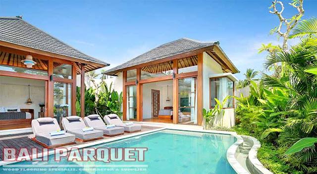 tampilan samping kolam renang villa asvara ubud bali