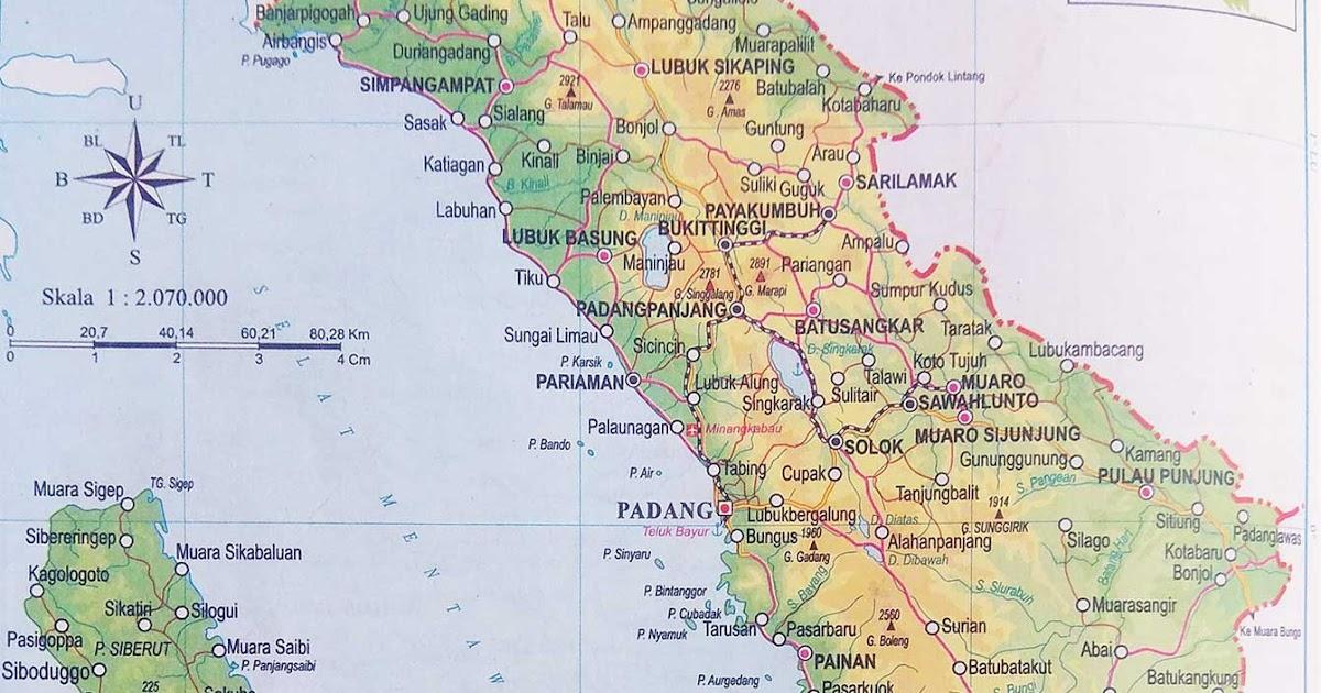 Peta Provinsi Sumatera Barat Lengkap Penjelasannya