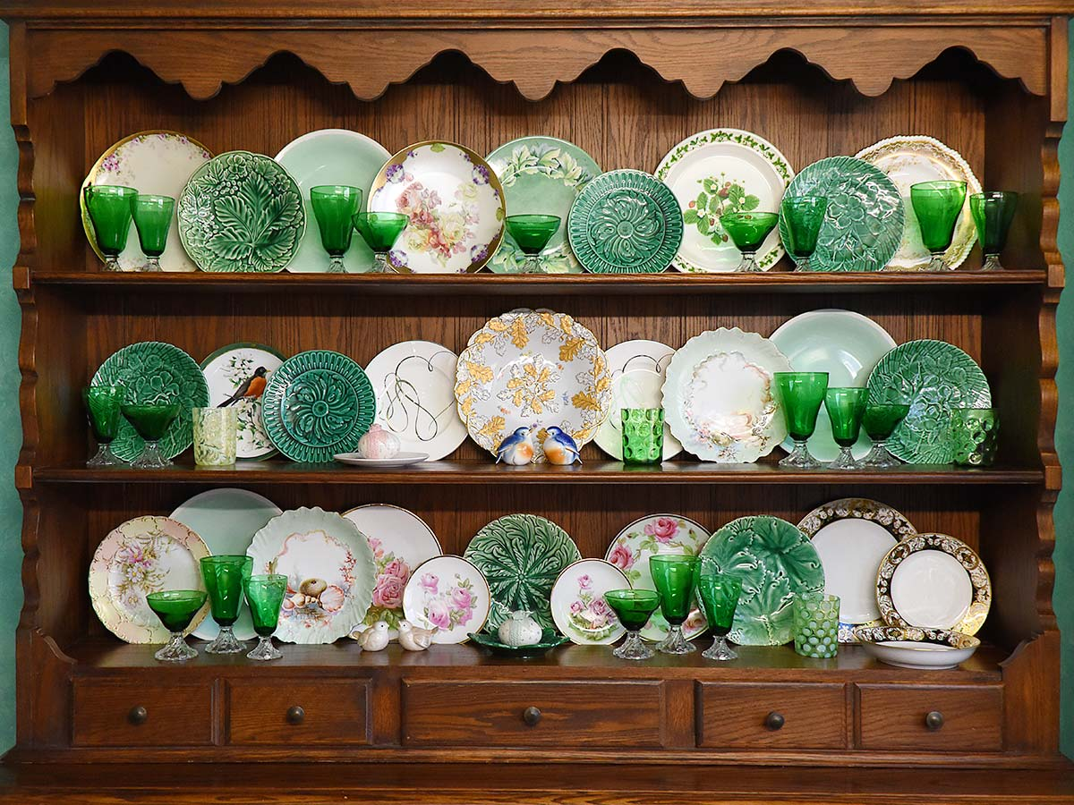 hutch St Patricks Day china cabinet
