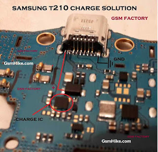 Samsung SM-T210 Charging Solution Check This Compunet Change this red mark charging usb ic.