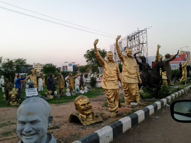 What to see in Hyderabad India: Political statues