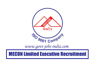 MECON Limited Executive Recruitment 2020