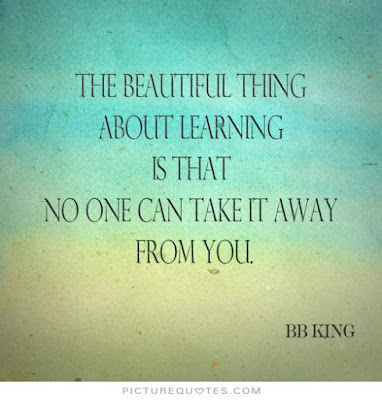 Learning to love Quotes with messages: the beautiful thing about learning is that